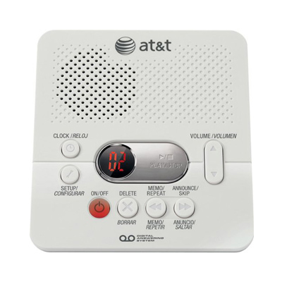 ATT 1740WH Digital Answering System Time/Day Stamp from Am-Dig