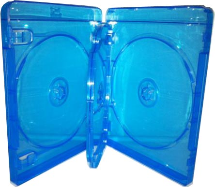 Blu-Ray Case - Light Blue Quad 22mm With Flip Tray from Am-Dig