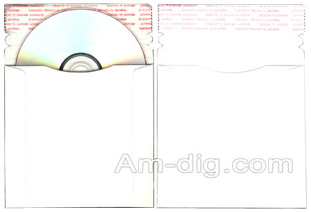 CD/DVD Cardboard Mailer -  6 x 6.375 Size from Am-Dig