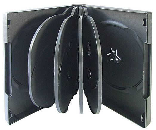 DVD Case - Black 10 Disc Holder from Am-Dig
