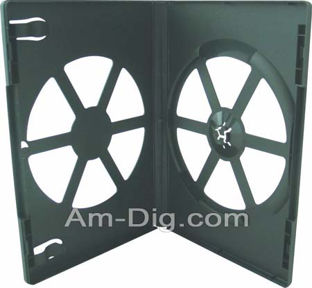 DVD Case - Black Single Eco-Friendly Poly from Am-Dig