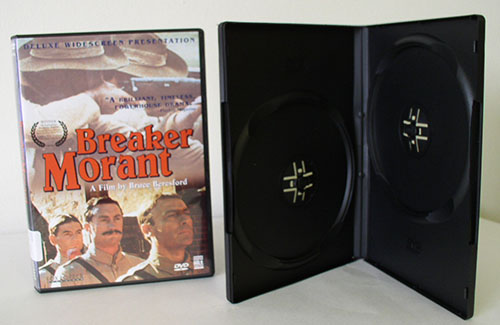 DVD Case - Double Black 14mm Spine - Booklet Clips from Am-Dig