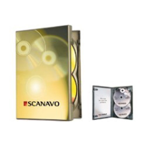 DVD Case - Scanavo Double Black 14mm Spine from Am-Dig
