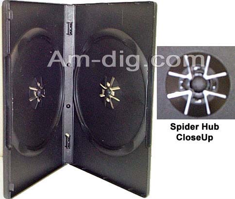 DVD Case - Black Double 14mm Push Hub from Am-Dig