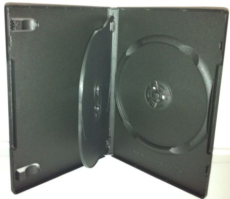 DVD Case - Black Triple 14mm With Flip Tray from Am-Dig