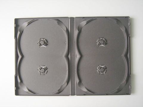 DVD Case - Black Quad 14mm - Overlap Style from Am-Dig