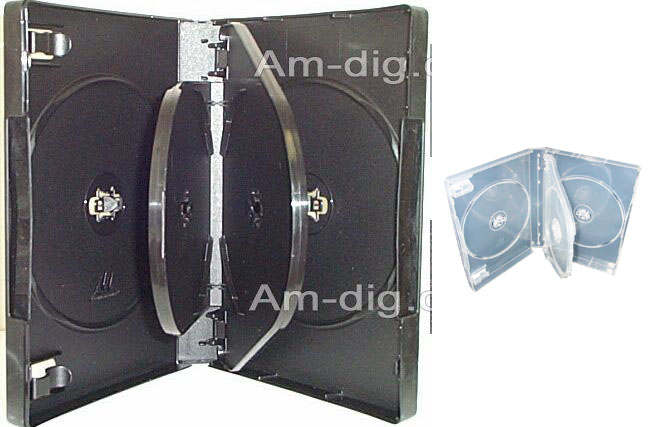 DVD Case - Clear Five Disc 27mm M-Lock Hub Design from Am-Dig