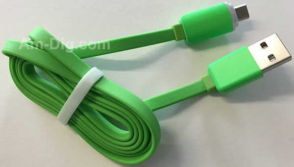 Earldom WZNB-23: LED Micro to USB Cable - Green from Am-Dig