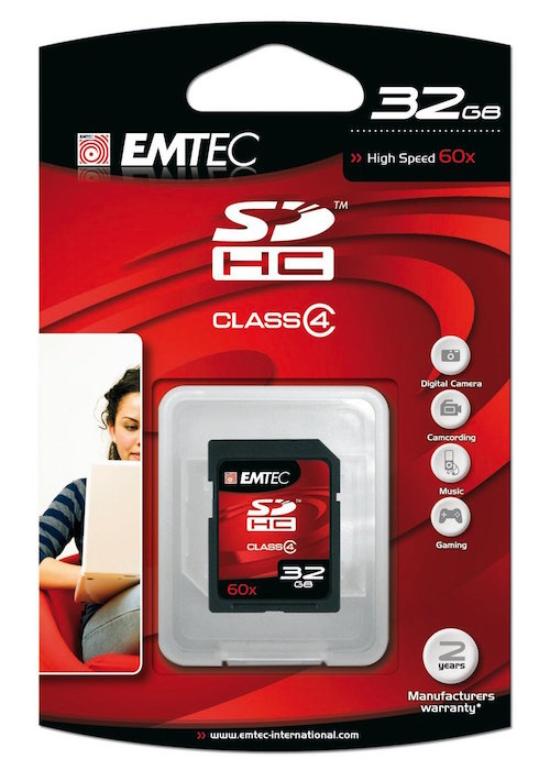 EMTEC EKMSD32GB60XHC SDHC Memory Card 32GB 60X Cla from Am-Dig