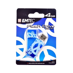 EMTEC EKMMD4GM430 Flash Drive 4GB Peace Signs 2 from Am-Dig