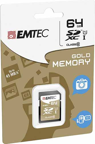 EMTEC ECMSD64GXC10: SDXC Card Class-10 64GB from Am-Dig