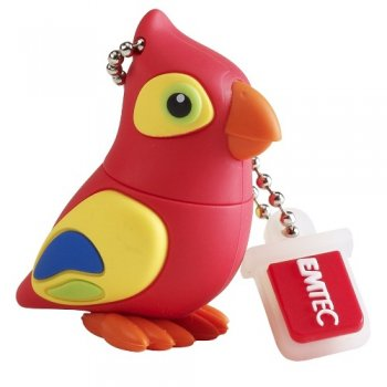 EMTEC EKMMD8GM328 Flash Drive 8GB M328 Parrot from Am-Dig