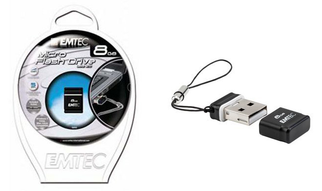 EMTEC EKMMD8GS100 Flash Drive 8GB S100 Micro from Am-Dig