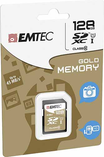 EMTEC ECMSD128GXC10: SDXC Card Class-10 128GB from Am-Dig
