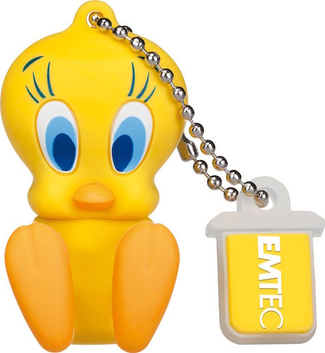 EMTEC EKMMD8GL100: 8GB Tweety Flash Drive from Am-Dig