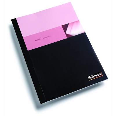 Fellowes 5256101: BLK Binding Covers, Thermal, 3/8