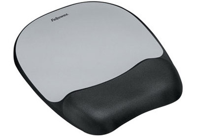 Fellowes 9175801: Mouse Pad/Wrist Rest, BLK/Silver