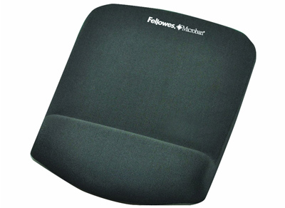 Fellowes 9252201: Plush Touch Mouse Pad/Wrist Rest