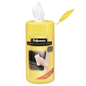 Fellowes Screen Cleaning Wipes,100/Tub