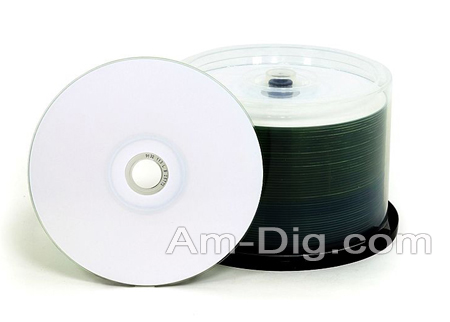 Imation 27788 CD-R 80min/52x White Therm Hub Print from Am-Dig