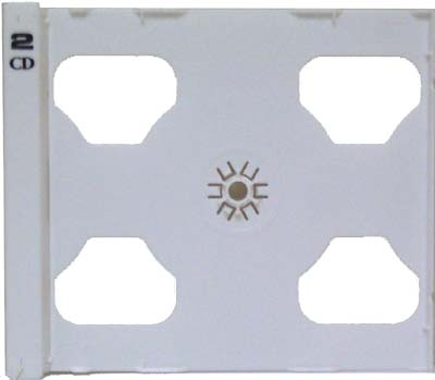 CD Tray Part - White Double (No Case Shell) from Am-Dig