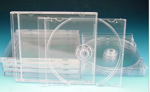 CD Jewel Case - Clear Single Unassembled from Am-Dig
