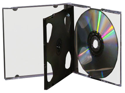 CD Jewel Case - Triple Slim 10mm Case Assembled from Am-Dig