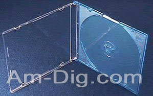 CD Jewel Case - Maxi Slim 5.2mm Blue Single from Am-Dig
