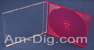 CD Jewel Case - MaxiSlim 5.2mm Red Single from Am-Dig