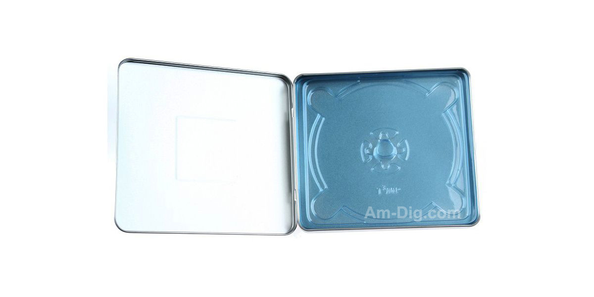 Images of the Tin CD/DVD Case Square Style no Window with Indent