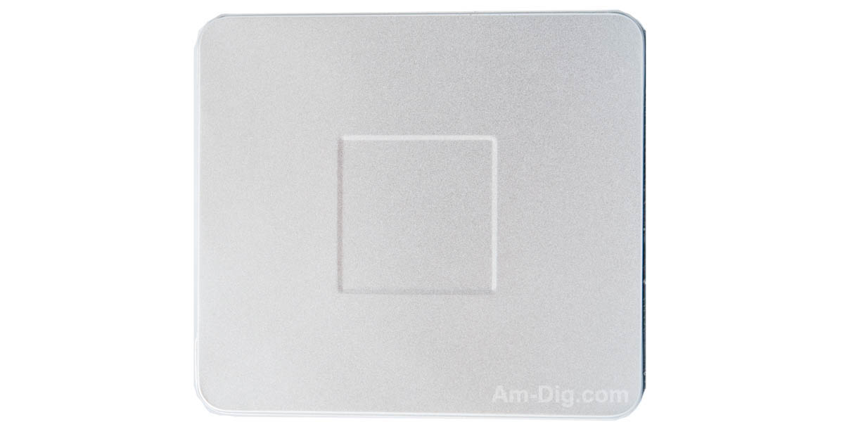 Tin CD/DVD Case Square Style no Window with Indent - Front View