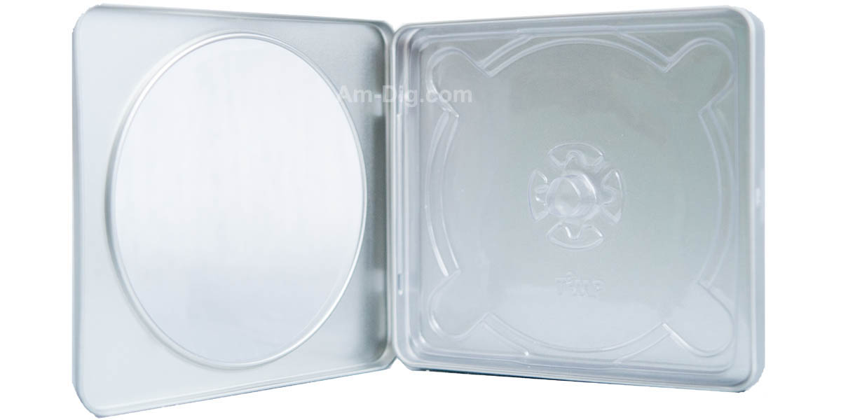 Images of the Tin CD/DVD Case Square Style w/ Window Clear Tray