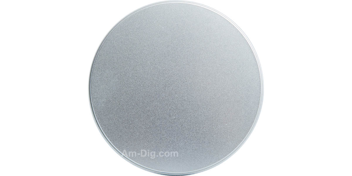 Tin CD/DVD Case Round Shape no Hinge no Window - Front View