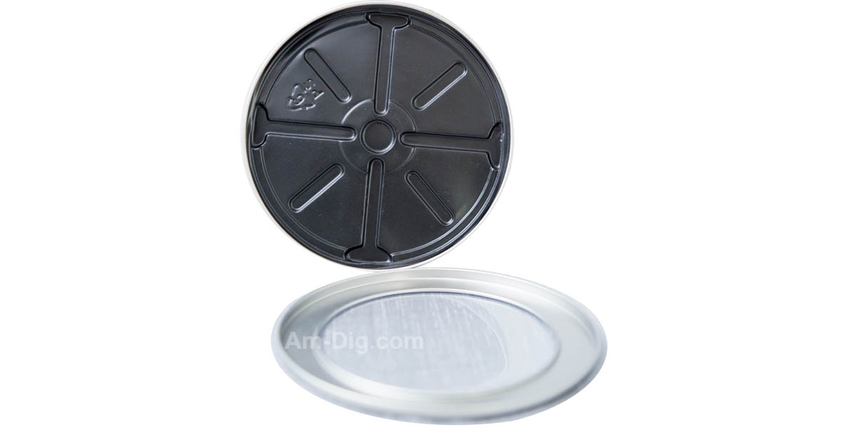 Images of the Tin CD/DVD Case Round Shape no Hinge with Window