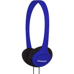 Koss Headphone, KPH7B, Portable On Ear, Blue, 4ft Cable