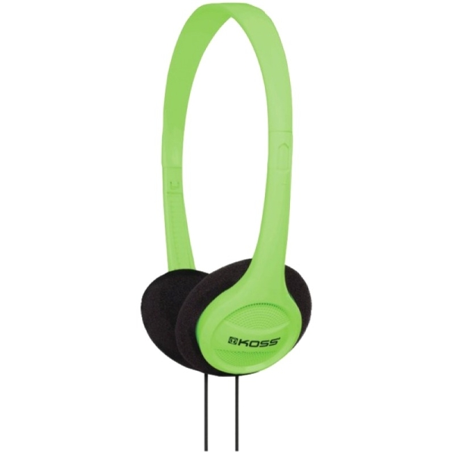 Koss KPH7G Headphone Portable On Ear Green 4ft Cable