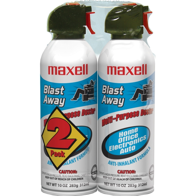 Maxell 190026 Canned Air 10oz 2pk CA-4