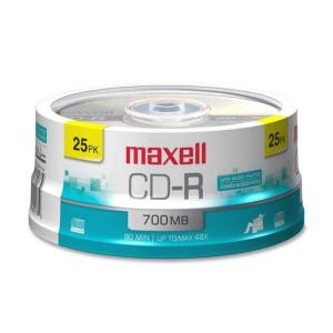 Maxell CD-R 700mb 80 min Branded 25 Spindle