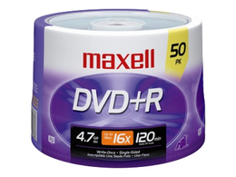 You may also be interested in the Maxell 639008 DVD+R 4.7GB 16x 15pk Spindle .