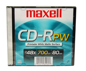 Maxell CD-R 80 min White IJ printable Slim Jewel