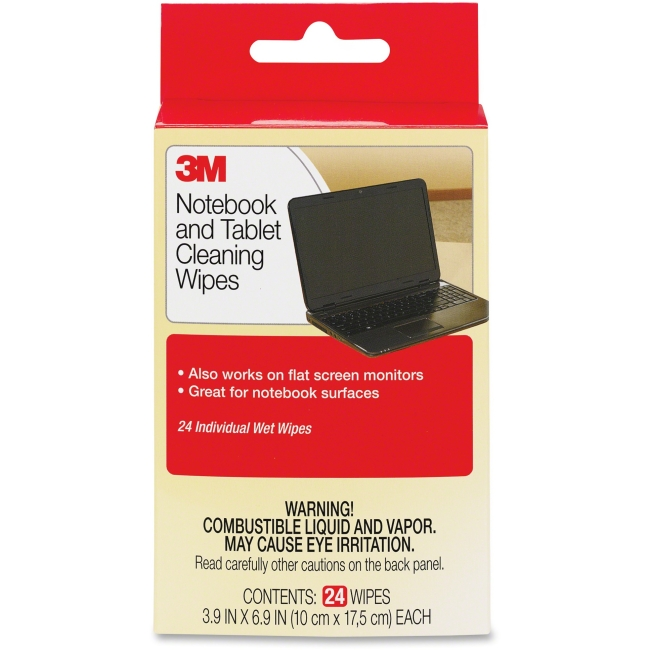 3M Notebook Screen Cleaning Wipes 24 wipes/pk