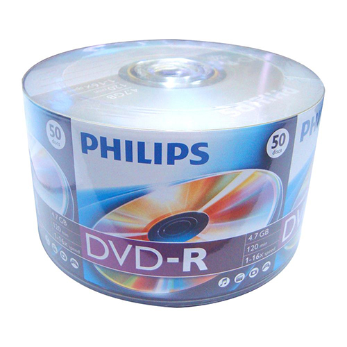 Philips DVD-R 16x White Inkjet Non Metalized Hub from Am-Dig