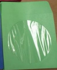 CD/DVD Sleeve - Green Paper with Flap & Window from Am-Dig