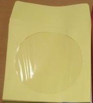CD/DVD  Sleeve - Yellow Paper with Flap�& Window from Am-Dig