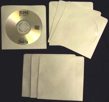 CD / DVD White Sleeve - Paper w/ Window & No Flap from Am-Dig