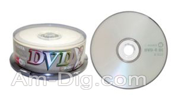 Ridata/Ritek 4x Dual Layer Branded DVD-R from Am-Dig