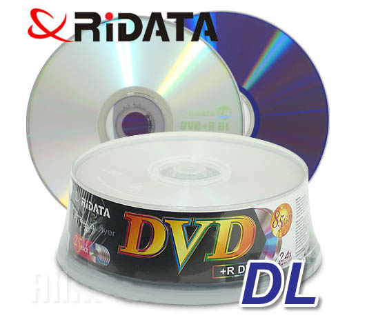 Ridata/Ritek 8x Dual Layer DVD+R InkJet White from Am-Dig