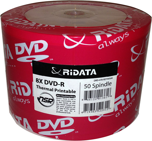 Ridata/Ritek 8x Thermal White DVD-R from Am-Dig