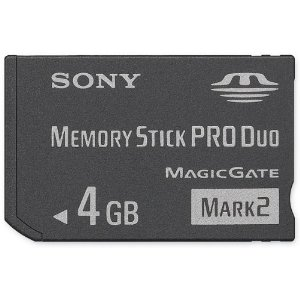 Sony MSMT4G MemoryStick Pro Duo 4GB Mark 2