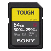 Sony SF-G64T/T1 Memory Card 64GB UHS-II TOUGH SDXC CL10